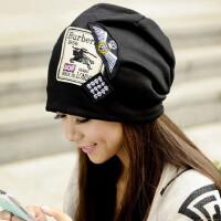 帽子女士韩版时尚新款潮流英伦百搭男女包头头巾春秋堆堆帽