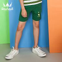 【3折价:41.7元】水孩儿童装新款儿童针织五分裤小童运动短裤男童短裤
