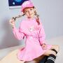 【3件6折】【爱宠大机密IP款】小猪班纳女童长袖连衣裙中大童卡通长裙运动风