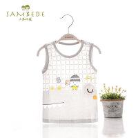 三木比迪男童宝宝无袖背心婴儿童小童T恤外穿上衣夏季薄款1-2-3岁