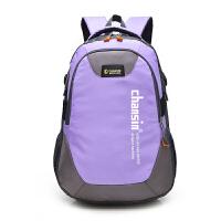 2018夏季潮电脑书包韩版中学生旅行双肩包运动女休闲旅游男士背包 浅紫色
