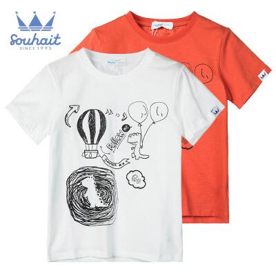 【3折价:26.7元】水孩儿童装新款儿童短袖圆领衫男童T恤短袖T恤 短袖圆领衫男童T恤短袖T恤
