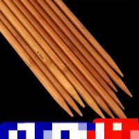 36cm竹毛衣针 碳化竹针 粗毛线木直针编织围巾帽子工具套装竹棒针 36厘米13副全套 送记号扣