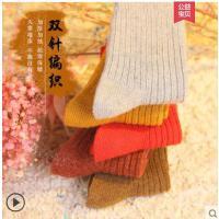 袜子女中筒袜韩版学院风长筒袜保暖羊毛袜子女加厚羊绒