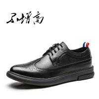 CUM 雕花男鞋复古英伦百搭休闲鞋男潮流时尚学生青年内增高皮鞋
