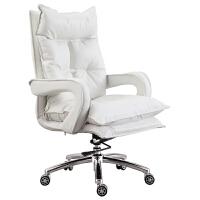 简约电脑椅家用舒适主播椅子女生办公椅靠背大班椅老板椅电竞转椅 铝合金脚 固定扶手
