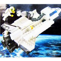 启蒙拼插太空飞船航天系列飞机模型拼装积木益智儿童玩具礼物509