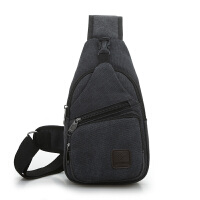 新款胸包男帆布单肩包休闲百搭小挎包背包男士胸前包运动包旅行包