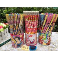 迪士尼公主卡通小学生儿童铅笔72支装 HB铅笔无毒学生写字用品铅笔