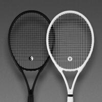 网球拍 单人初学者套装碳纤维全碳素男女通用情侣一体训练 CX 球拍拍包训练器C套餐 白色