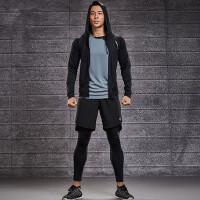 健身房运动套装男室内健身装备训练服紧身速干衣五件套