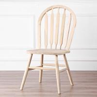 美式实木椅子餐椅简约餐桌椅家用饭店酒店靠背椅休闲孔雀椅温莎椅