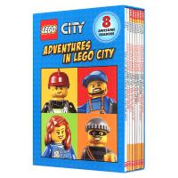 正版 乐高城市历险8册套装 Scholastic Adventures in Lego City 英文原版绘本 进口学