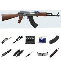 ak47电动连发下供水珠弹枪可发射仿真模型绝地吃鸡玩具枪AK +大容7.4锂电+蛋夹 图示配置