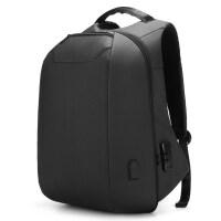 商务双肩包男士背包15.6寸电脑包多功能防盗书包大容量出差旅行包