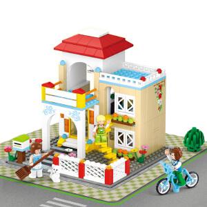 【当当自营】小鲁班新粉色梦想小镇女孩系列儿童益智拼装积木玩具 甜蜜之家M38-B0533