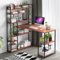 良木电脑桌宜家家居简易带书架一体桌经济型省空间台式桌子旗舰