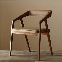北欧实木办公桌台式电脑桌简约工作台原木大板桌老板桌子双人书桌