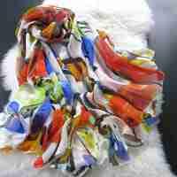 薇秋2015春秋女士桑蚕丝保暖围巾 女式时尚长款轻薄纱巾披肩 秋冬真丝雪纺丝巾