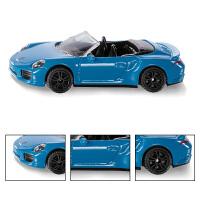 仿真小跑车模型男孩玩具保时捷911Turbo敞篷运动合金