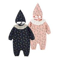 婴儿连体衣服宝宝新生儿衣服0岁1个月7季1装冬季冬装睡衣