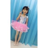 六一儿童演出服蓬蓬裙幼儿亮片跳舞纱裙爵士舞女童现代舞表演服装