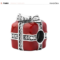 PANDORA潘多拉 清新宜人女士纯银礼品盒串珠 红色791772CZ