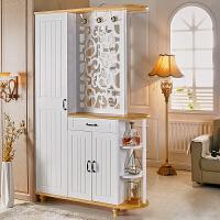 双面玄关柜隔断柜门厅柜简约现代欧式客厅镂空入户鞋柜屏风装饰柜 组装
