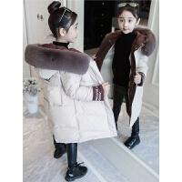 韩版洋气外套女孩羽绒棉袄大童装儿童冬装女童棉衣中长款