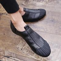 CUM 乐福鞋男夏季包头休闲鞋一脚蹬懒人驾车潮鞋英伦套脚男鞋