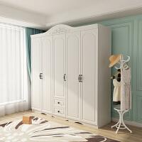 北欧衣帽间组装木质卧室衣柜简易现代简约网红经济型二三四五开门 5门 组装