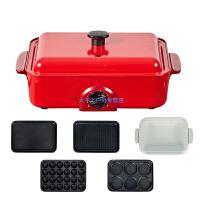 多功能烧烤锅火锅家用电烧烤炉无烟铁板烧烤肉锅多盘可换