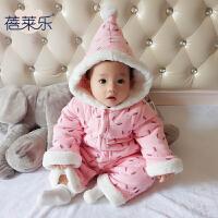 婴儿连体衣服宝宝新生儿0长袖6个月季3满月2可爱春装冬季