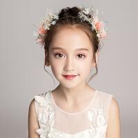 儿童演出礼服头箍发饰花童婚纱头花发卡女童花朵配饰头饰发箍饰品