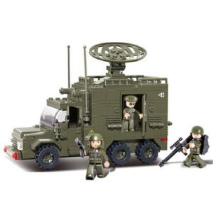 【当当自营】小鲁班陆军部队2军事系列儿童益智拼装积木玩具 雷达车M38-B0300