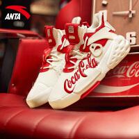 【满299-60】安踏可口可乐联名男鞋官网2021新款透气霸道运动鞋 11928088S
