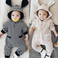 婴儿连体衣0冬季1岁2男3女6到12个月4宝宝5冬装7衣服8秋冬9哈衣10