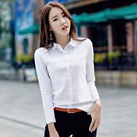 【新品抢鲜】Coolmuch女长袖T恤衫2020新款修身简约纯色荷叶领衬衫长袖打底衫JW6028
