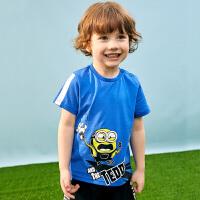 【2件5.5折价:49】小猪班纳童装宝宝半袖t恤儿童卡通圆领短袖上衣棉