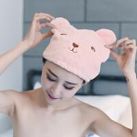 干发帽女吸水包头巾长短发浴帽速干毛巾可爱擦头发干发巾