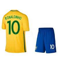 巴西队球衣足球服2018新款短袖团购定制光板服儿童球衣10号内马尔