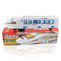 儿童玩具地摊万向音乐闪光电动车塑胶仿真和谐号高铁火车模型