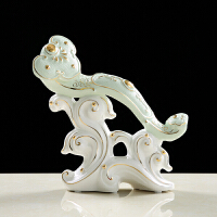 如意摆件陶瓷工艺品 装饰品摆设简约室内艺术品dm 小号如意
