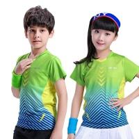 儿童羽毛球服短袖网球短袖速干运动裙裤短袖透气男童女童短袖上衣
