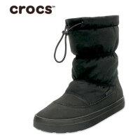 【限时秒杀】Crocs女靴 卡骆驰女鞋冬季休闲保暖系带洛基平底棉靴|203422 女士休闲洛基靴