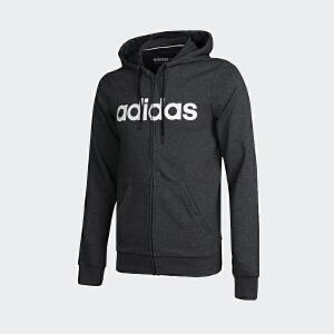 adidas neo阿迪休闲2018新款男子运动透气连帽休闲夹克外套DM4281