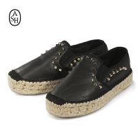 Ash/艾熙 Xelia Espadrille S16SP1626-001 女款乐福鞋一脚蹬 韩国直邮 进口商品