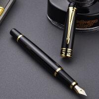 英雄钢笔 学生钢笔 英雄6136丽雅黑铱金笔 墨水笔 钢笔 礼品钢笔 学生练字钢笔硬笔书法笔