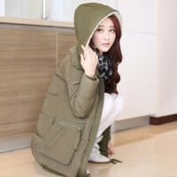 冬装韩版加厚军工装宽松休闲羽绒服女中长款百搭上衣女外套