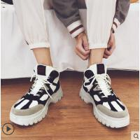 男靴子高帮男鞋中帮短靴潮英伦复古户外新品网红同款个性百搭马丁靴新款